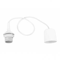 Cablu suspensie lustra alb plastic, E27, IP20 - Iluminat corpuri de iluminat
