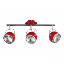 Ball Lustra rosu LED 3x5W, GU10, metal - Iluminat corpuri de iluminat