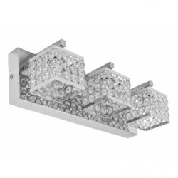 MAGNA Aplica cristal 3x60W, E14, metal-cristal - Iluminat corpuri de iluminat