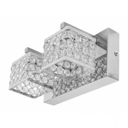 MAGNA Aplica cristal 2x40W, E14, metal-cristal - Iluminat corpuri de iluminat