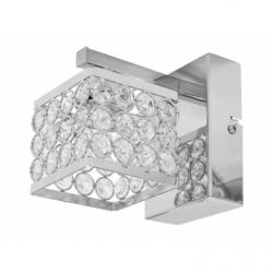 MAGNA Aplica cristal 1x60W, E14, metal-cristal - Iluminat corpuri de iluminat