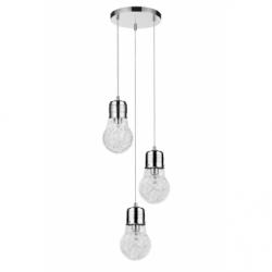 Bulb Lustra crom 3x60W, E27, sticla - Iluminat corpuri de iluminat