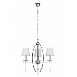AMELIA Lustra alb 3x60W, E14, textil - Iluminat corpuri de iluminat