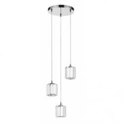 MERILO Lustra crom 3x60W, E14, sticla - Iluminat corpuri de iluminat