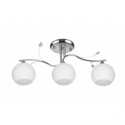 Nita Lustra alb 3x60W, E27, sticla - Iluminat corpuri de iluminat