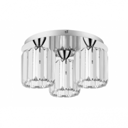 MERILO Lustra 3xE27, 60W, metal-sticla - Iluminat corpuri de iluminat