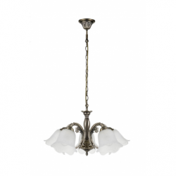 DOLORES Lustra 5xE27, 60W, metal-sticla - Iluminat corpuri de iluminat