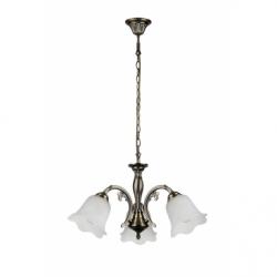 DOLORES Lustra 3xE27, 60W, metal-sticla - Iluminat corpuri de iluminat