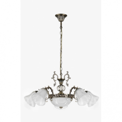 Clotilde Lustra 7xE27, 60W, metal-sticla - Iluminat corpuri de iluminat