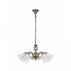 Clotilde Lustra 5xE27, 60W, metal-sticla - Iluminat corpuri de iluminat