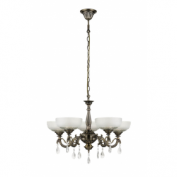 Graciela Lustra 5xE27, 60W, metal-sticla - Iluminat corpuri de iluminat