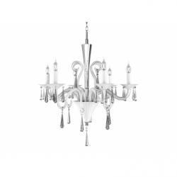 ROSANO Lustra 6xE14, 40W, sticla - Iluminat corpuri de iluminat