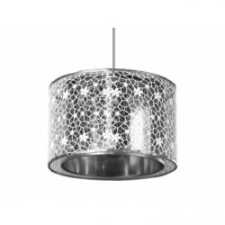BAGLIORE ARGENTO Lustra 1xE27, 60W, textil - Iluminat corpuri de iluminat