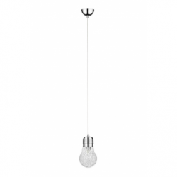 Bulb Pendul crom 1x60W, E27, sticla - Iluminat corpuri de iluminat