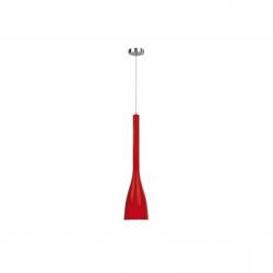 TUS Lustra rosu 1xE14, 60W, metal - Iluminat corpuri de iluminat