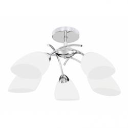 Viletta Lustra 5xE27, 60W, alb, sticla - Iluminat corpuri de iluminat