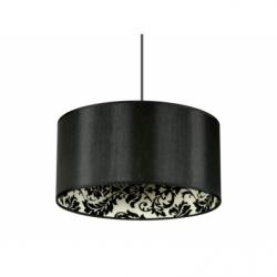 SAPARATO IN NERO Suspensie negru, 1xE27, 60W, textil - Iluminat corpuri de iluminat
