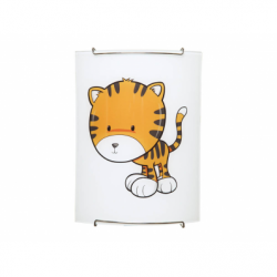 KIDS Aplica pisica 1xE27, 60W, sticla - Iluminat corpuri de iluminat