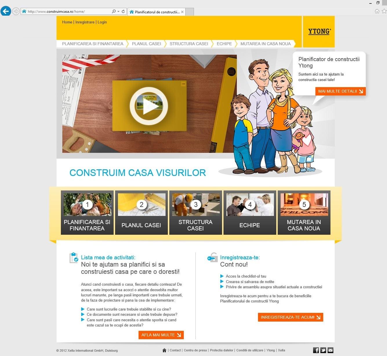 Construimcasa.ro - YTONG sustine constructiile de calitate