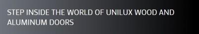 Usi Unilux - Usi de exterior din lemn-aluminiu