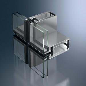 Profil din aluminiu pentru pereti cortina - Schüco UCC 65 SG - Pereti cortina cu profile din aluminiu
