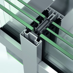 Sistem de profile din aluminiu pentru pereti cortina - Schüco FWS 50 - Pereti cortina cu profile din aluminiu