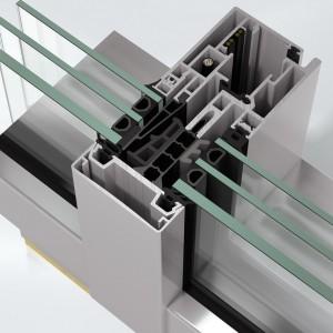 Sistem de profile din aluminiu pentru pereti cortina Schüco FWS 60 CV - Pereti cortina cu profile din aluminiu