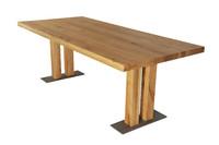 Masa picior lemn Bristol - Mobilier look industrial