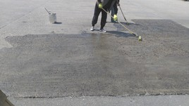 Detaliu protectie beton cu rasina poliuretanica - Sigilare protectie betoane noi sau degradate cu rasina poliuretanica