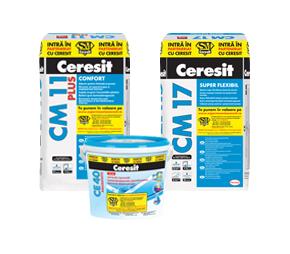 Placari ceramice - Ceresit CM 11 Plus Ceresit CM 17 Ceresit CE 40 - Produsele participante