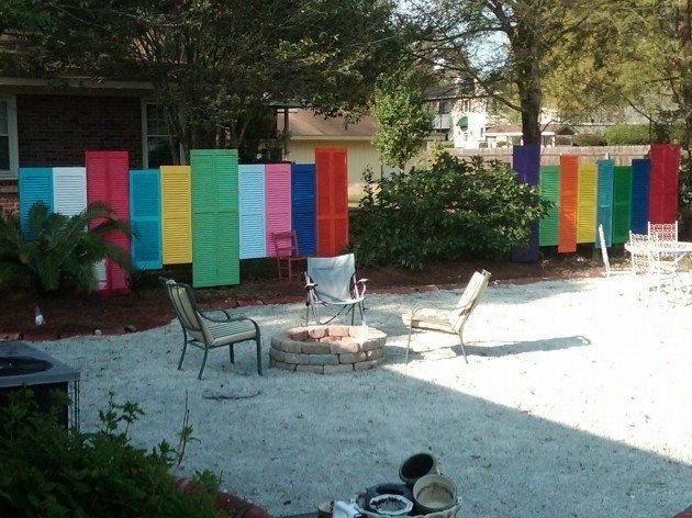 Gardul din obloane - Cateva idei altfel pentru garduletele decorative de gradina