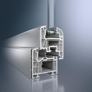 Profil din PVC pentru fereastra Corona TopAlu - Sistem de fereastra Corona TopAlu