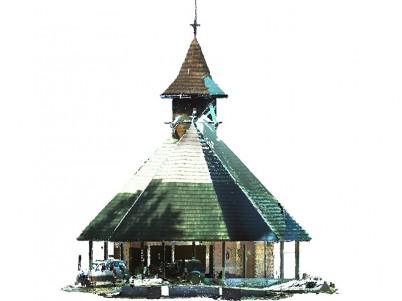 Scanare 3D Fatada Est - nor de puncte - Biserica Tismana - Scanare 3D pentru monumente