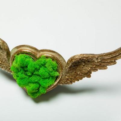 Inima cu aripi de inger si licheni - Produse LANDSCAPE VIBE