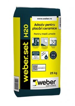 Adeziv pentru placari ceramice - weber.set H20 - Adezivi pentru gresie, faianta si piatra