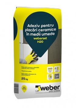 Adeziv pentru placari ceramice in medii umede - weberset H20 - Adezivi pentru gresie, faianta si piatra