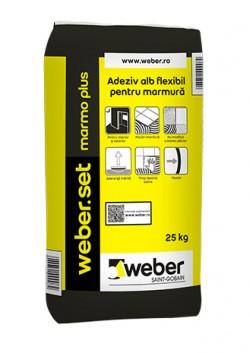 Adeziv alb flexibil pentru marmura - weber.set marmo plus - Adezivi pentru gresie, faianta si piatra