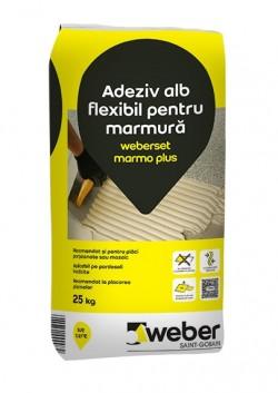 Adeziv alb flexibil pentru marmura - weberset marmo plus - Adezivi pentru gresie, faianta si piatra