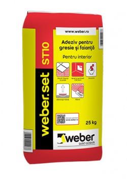Adeziv pentru faianta si gresie - weber.set ST10 - Adezivi pentru gresie, faianta si piatra