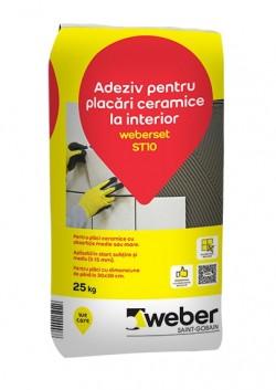 Adeziv pentru placari ceramice la interior - weberset ST10 - Adezivi pentru gresie, faianta si piatra