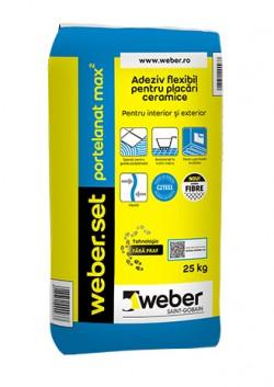 Adeziv flexibil pentru placari ceramice - weber.set portelanat max2 - Adezivi pentru gresie, faianta si piatra