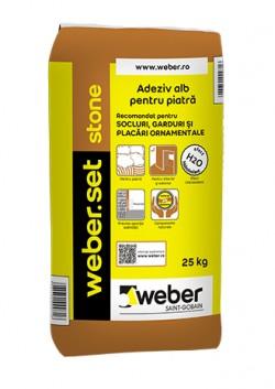 Adeziv alb pentru piatra - weber.set stone - Adezivi pentru gresie, faianta si piatra