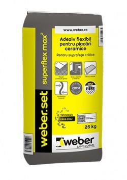 Adeziv flexibil pentru placari ceramice - weber.set superflex max2 - Adezivi pentru gresie, faianta si piatra