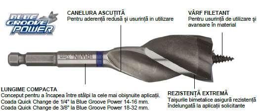 Burghie pentru lemn Blue Groove Power - Burghie pentru lemn - Irwin