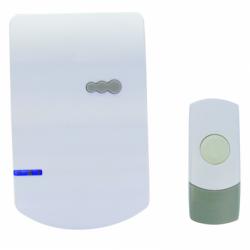 Sonerie fara fir, alimentare cu baterii, cu buton  IP-44, 100m - Sonerii electrice