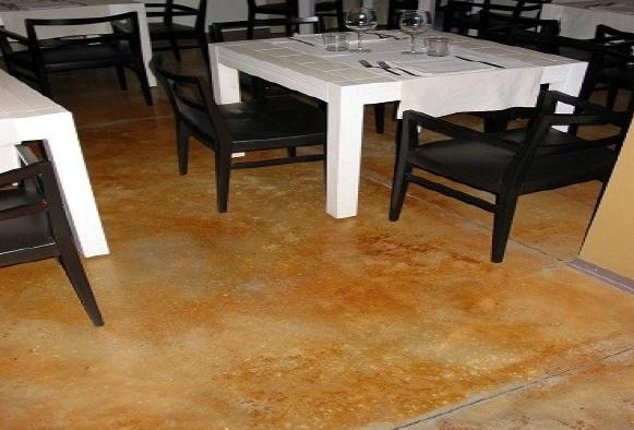 Pardoseala decorativa din beton - Acid Stain - Pardoseli decorative pentru cafenele, restaurante, terase de vara
