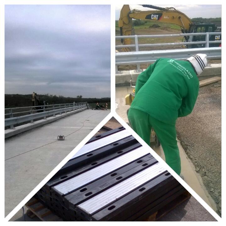 Echipele Hidroplasto au finalizat lucrarile de instalare dispozitive de acoperire rosturi dilatatie la podul din loc