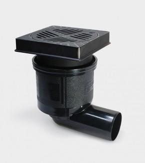 67922B - Gura de scurgere din fonta ecologica - Sifoane tarchet si cu montaj exterior