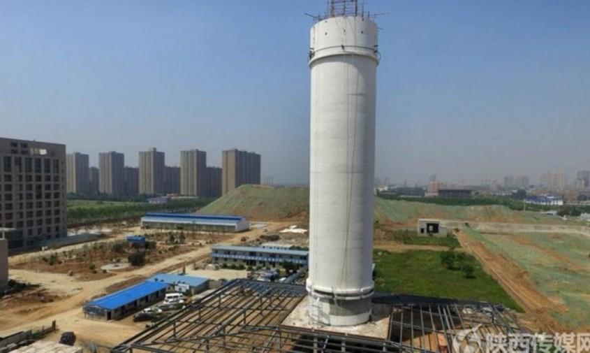 """Turnul Xian - Cel mai mare """"purificator de aer"""" din lume funcționează într-un oraș chinezesc"""