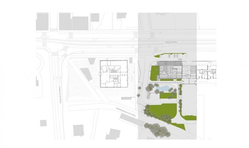 Sediu central al companiei Swiss Societe Privee de Gerance (SPG) - planuri - Clădire ventilată natural